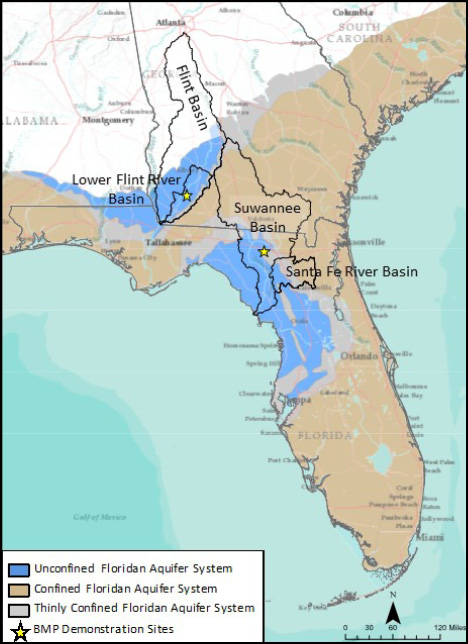 Map of Floridan Aquifer